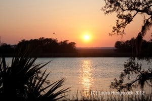 Sunset on St. Simon's Island is always conducive to rest.
