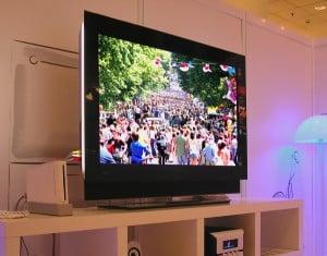 Television blaring
