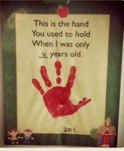 hand prints share memories
