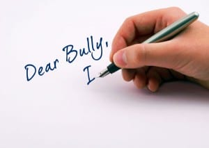 Write a letter to yourself or bully or ….