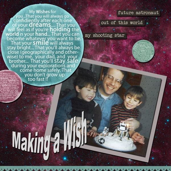 Make a wish layout 1