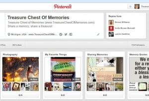 My Memory Sharing Pinterest Boards