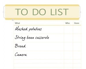 Thanksgiving Checklist