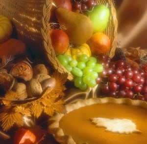 Write about gratitude at Thanksgiving