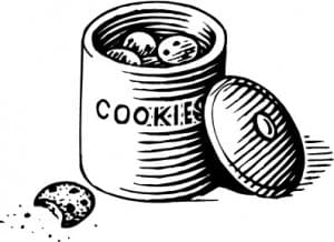 Getting caught with hand in cookie jar