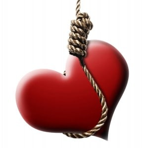 Write about romance heart in a noose