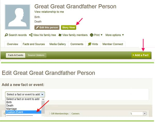 how to start a new tree on ancestry