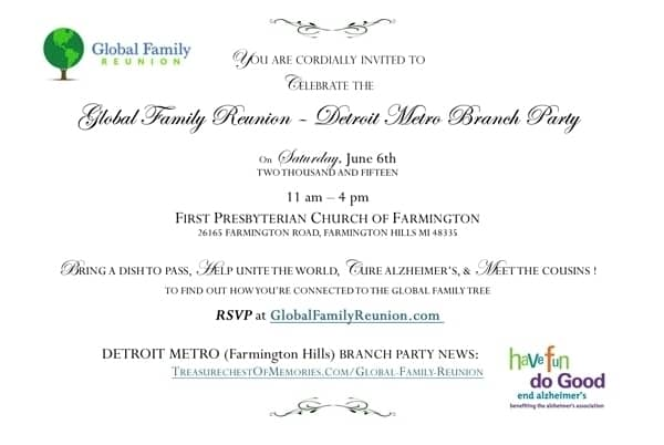 Global Family Reunion Invitation