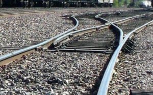 Train track represents get back on track