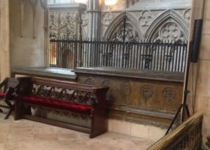 Tomb in Lincoln Cathedral
