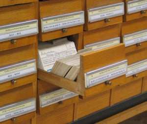 Card catalog illustrates vagaries of memories