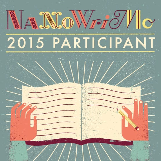 NaNoWriMo to write your stories participant Logo