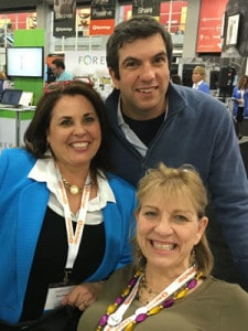 ROotsTech 2016 Laura with AJ Jacobs and Carol Rice