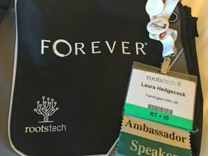 Rootstech 2016 bag and badge