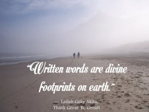 Leaving footprints behind - quote