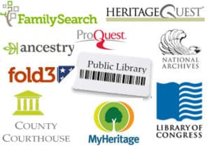 Genealogy resources for Memoirists