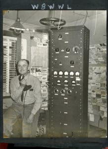 Ray Hedgecock with Ham Radio