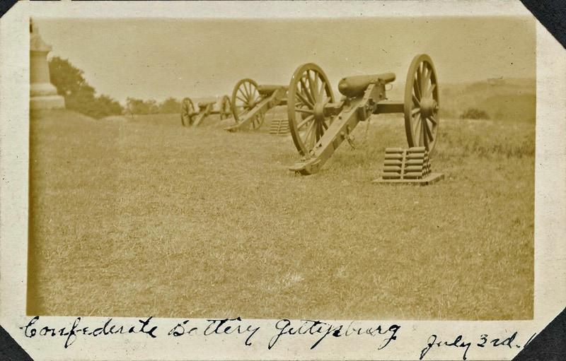 Confederate battery taken at 1913 Getttysburg Reunion