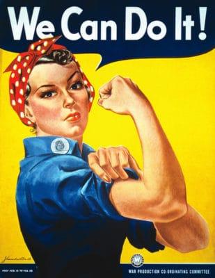 Rosie the Riveter Recruitment Poster .+