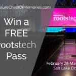 win a free pass to RootsTech 2018 graphic