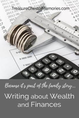 Writing about Wealth grapic pinnable