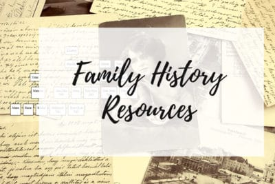 Family History Resources Graphic